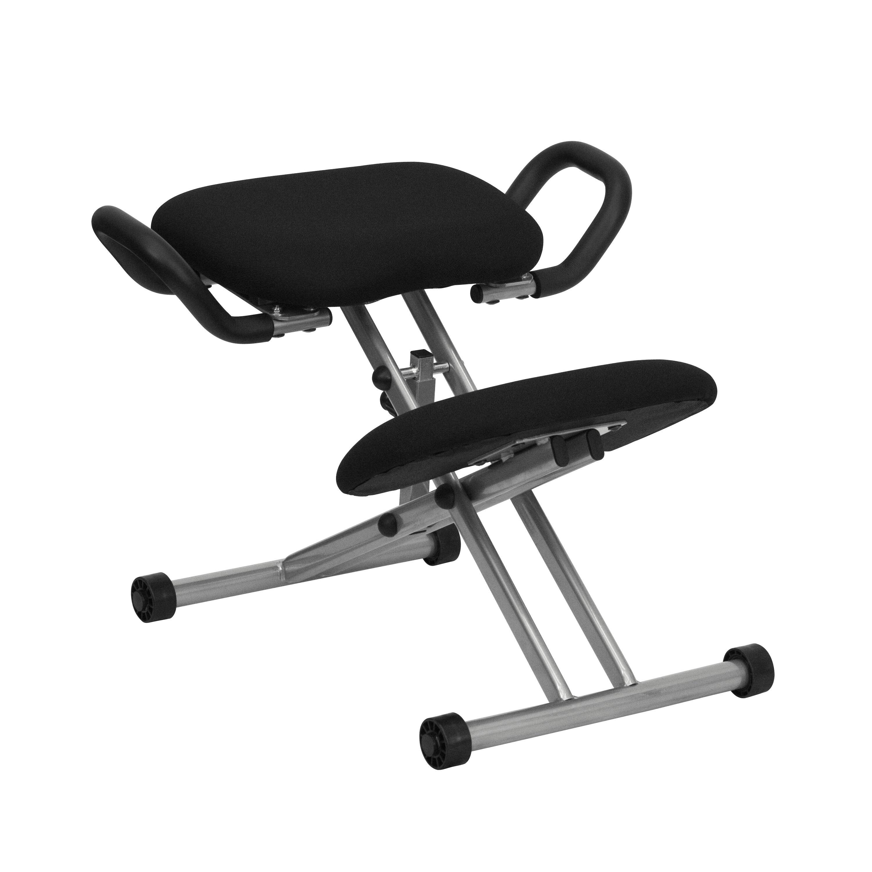coccyx kneeling chair lifts stairs black kneeler w handles wl 1429 gg bizchair com