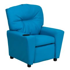 Kid Recliner Chair Swan High Turquoise Vinyl Kids Bt 7950 Turq Gg