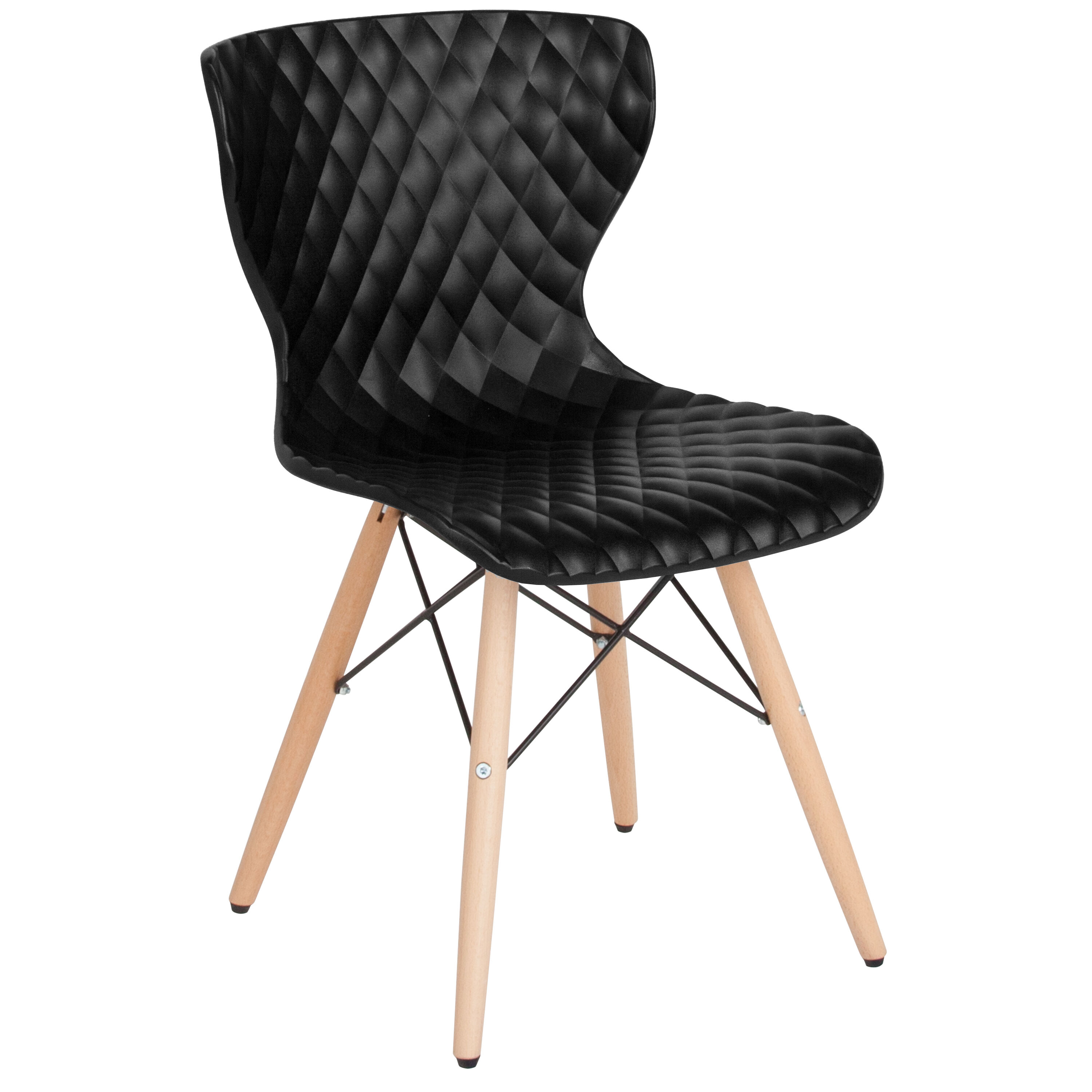 black plastic chair with wooden legs proper posture ball bedford contemporary design