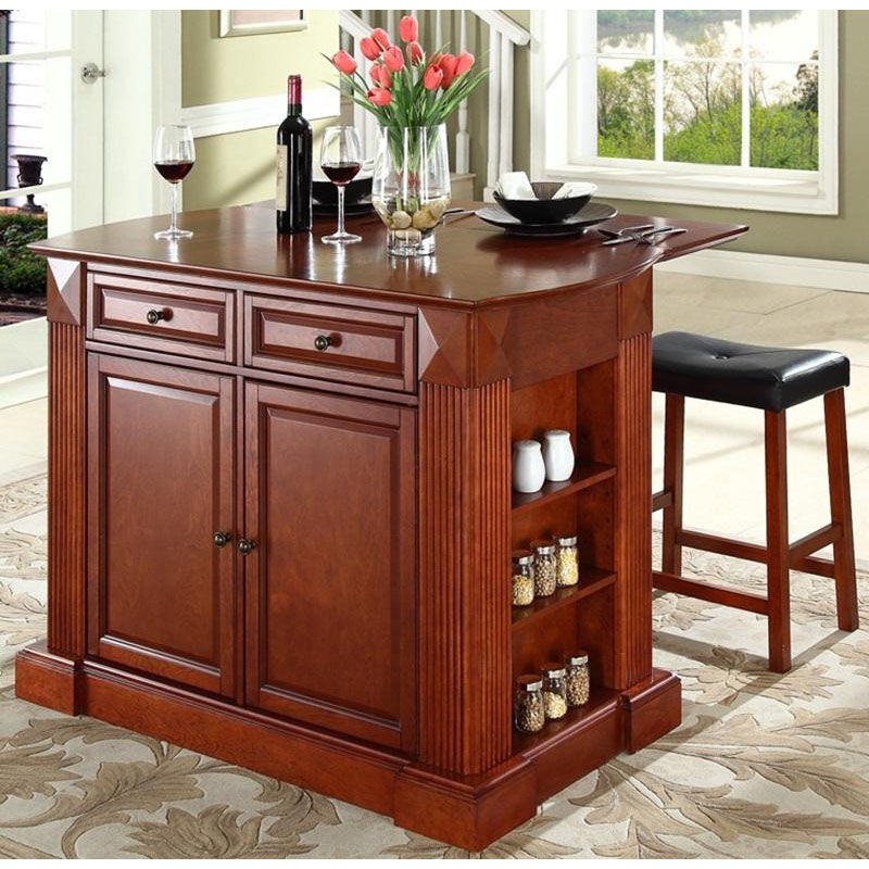 kitchen island with drop leaf clearance sink and cabinet kf300074ch bizchair