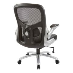 Office Chair 300 Lb Capacity Ergonomic Reviews Big And Tall 69226 Mesh Back With Leather