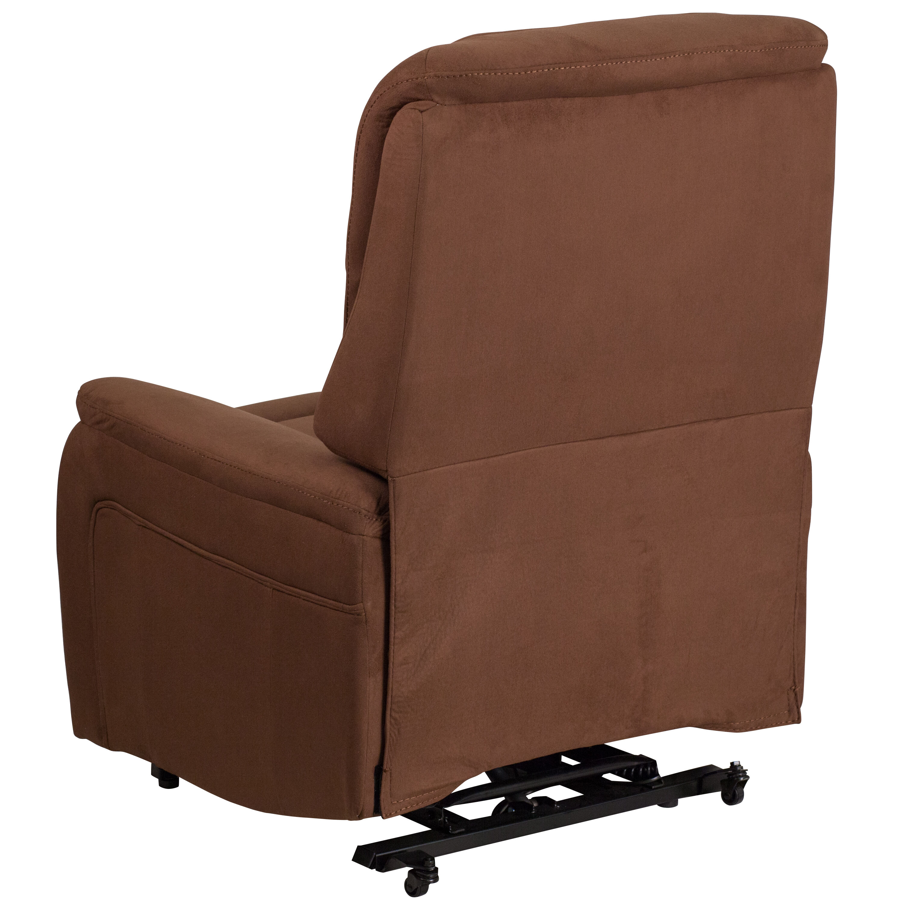 lift recliner chairs for sale office chair heated back support brown microfiber ch us 153062l brn mic gg