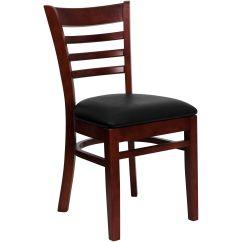 Restaurant Supply Chairs Eros Revolving Chair Mahogany Wood Blk Vinyl Bfdh 8241mbk Tdr Bizchair