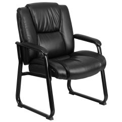 Black Leather Reception Chairs Wayfair Desk Side Chair Go 2138 Gg Bizchair Com
