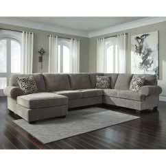Jamestown 2 Piece Sofa And Loveseat Group In Gray Polywood Mission Corduroy U Sectional Fsd 1949sec 3rafs Gry Gg