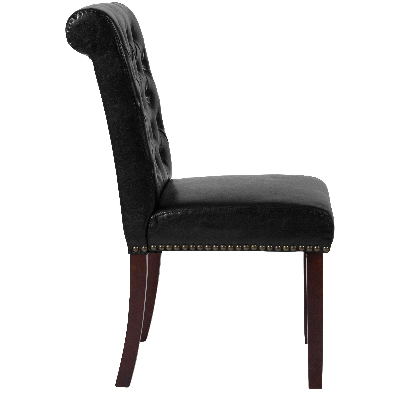 black parsons chair wicker outdoor rocking leather bt p bk lea gg bizchair