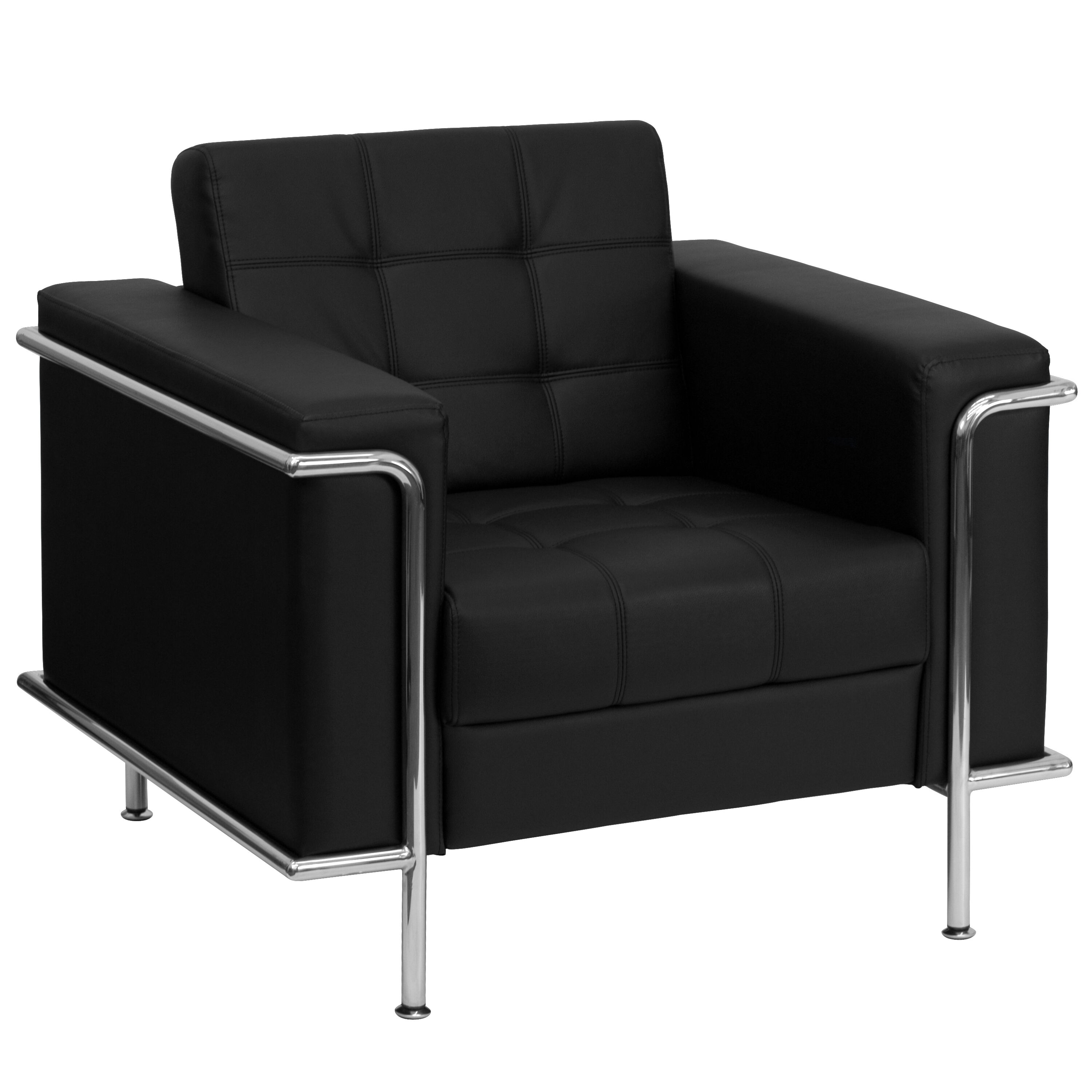 HERCULES Lesley Series Contemporary Black Leather Chair