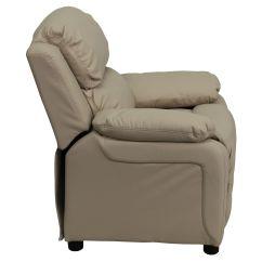Biz Chair Com Waterproof Covers Beige Vinyl Kids Recliner Bt 7985 Kid Bge Gg Bizchair