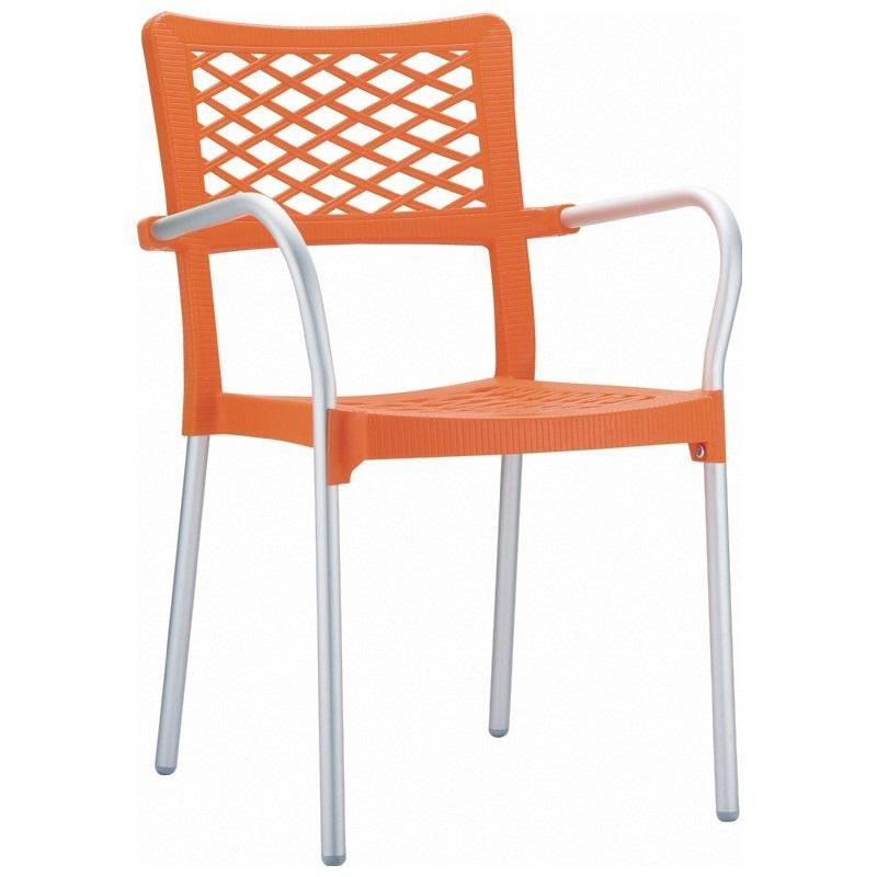 orange stackable chairs curved lounge chair plans stacking dining arm isp040 ora bizchair