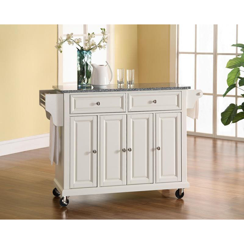 white kitchen island cart electronic scale kf30003ewh bizchair com our solid granite top with cabinets finish is on sale now