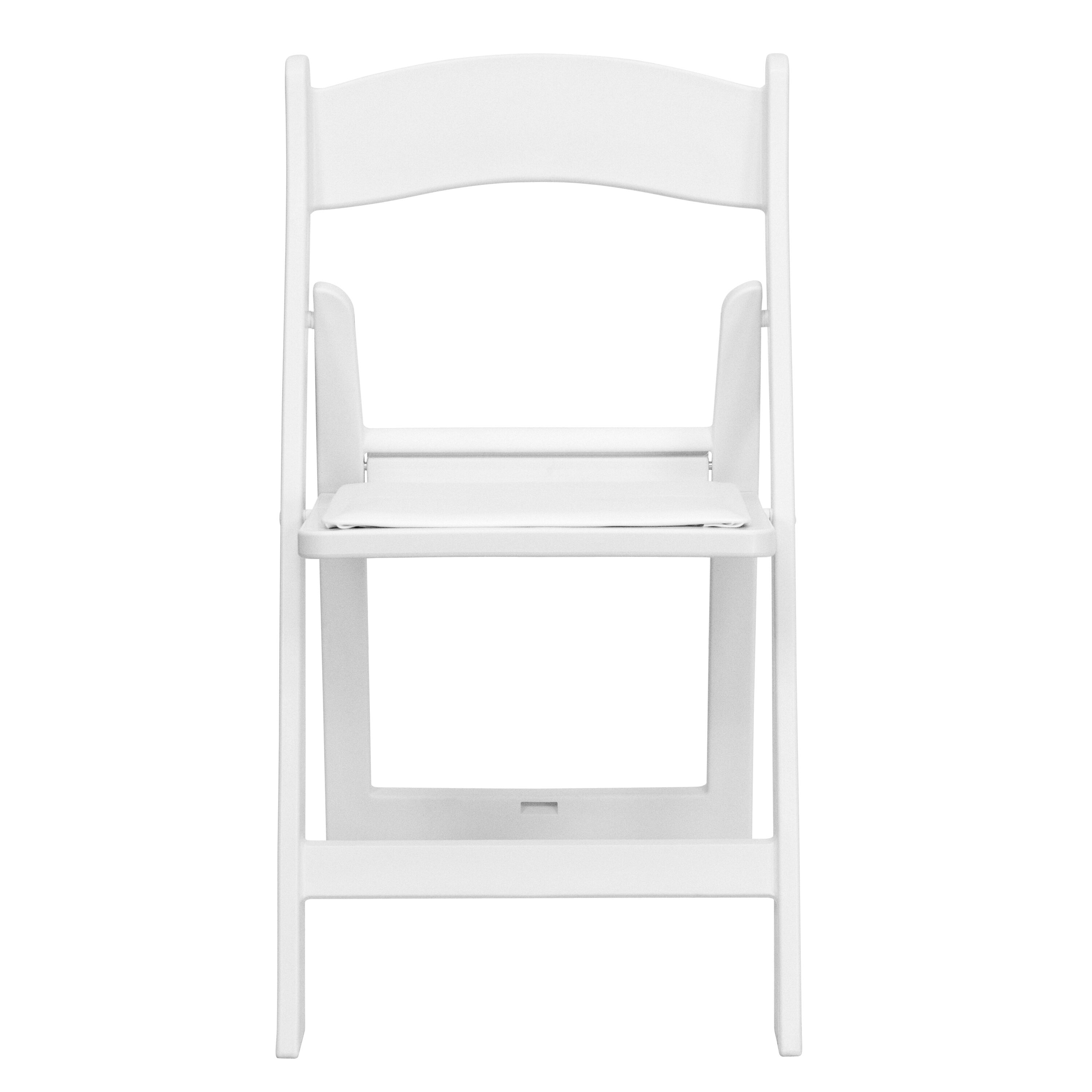 folding chair dolly 50 capacity hanging from tree white resin le l 1 gg bizchair