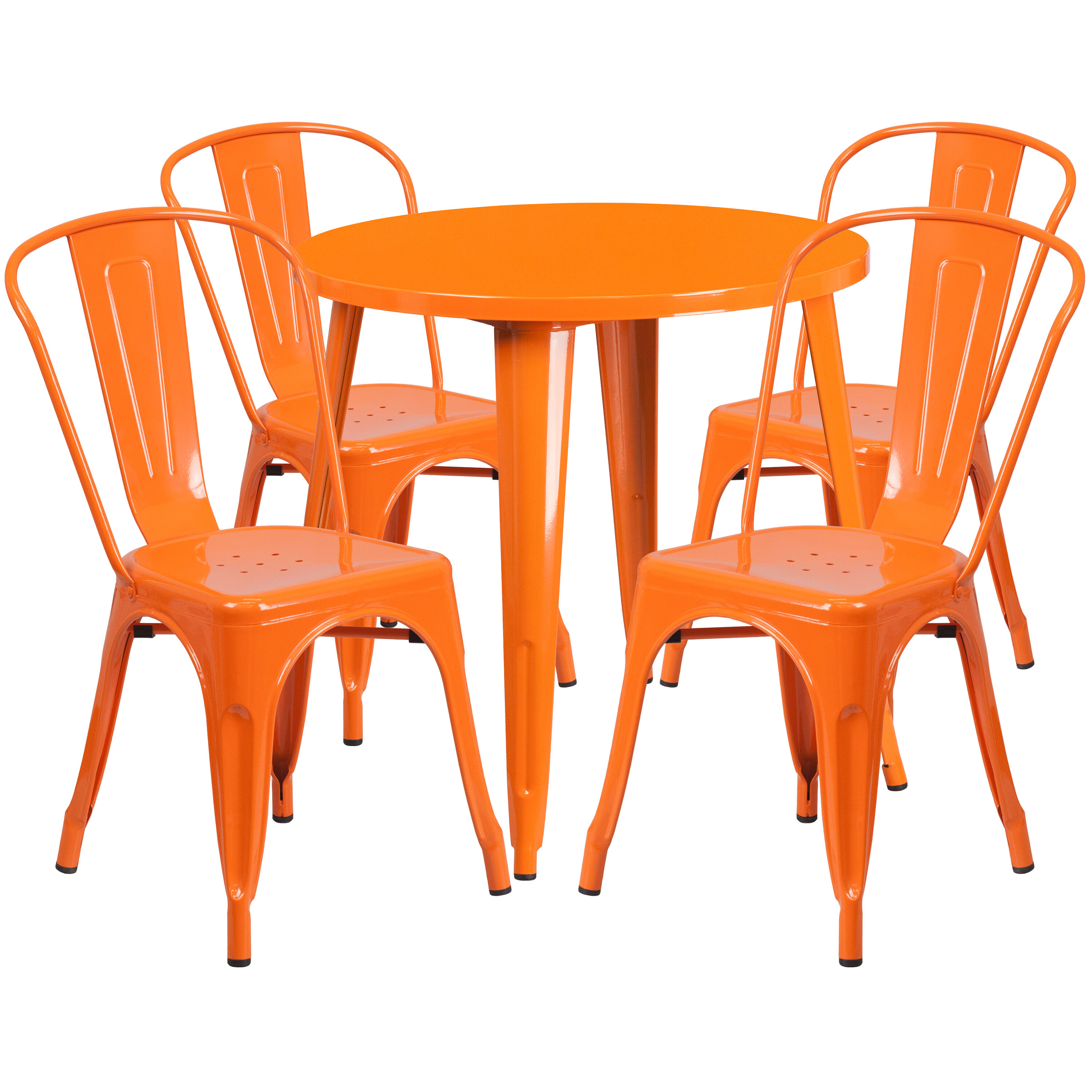 orange cafe chairs walker chair combo 30rd metal set ch 51090th 4 18cafe or gg bizchair