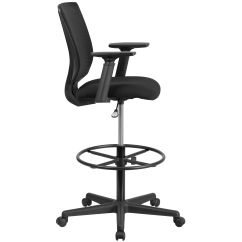 Ergonomic Drafting Chair With Arms Green Velvet Swivel Mid Back Mesh Black Fabric