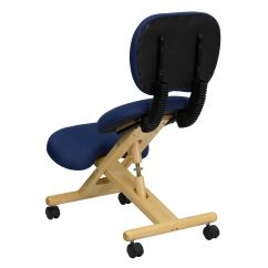 Ergonomic Chair Posture Ergonomics Navy Mobile Kneeler Recline Wl Sb 310 Gg Bizchair