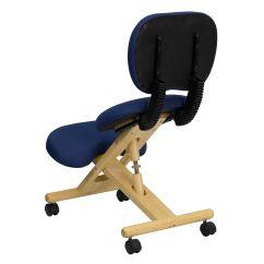 Ergonomic Chair Kneeling Review Salon Parts Navy Mobile Kneeler Recline Wl Sb 310 Gg Bizchair
