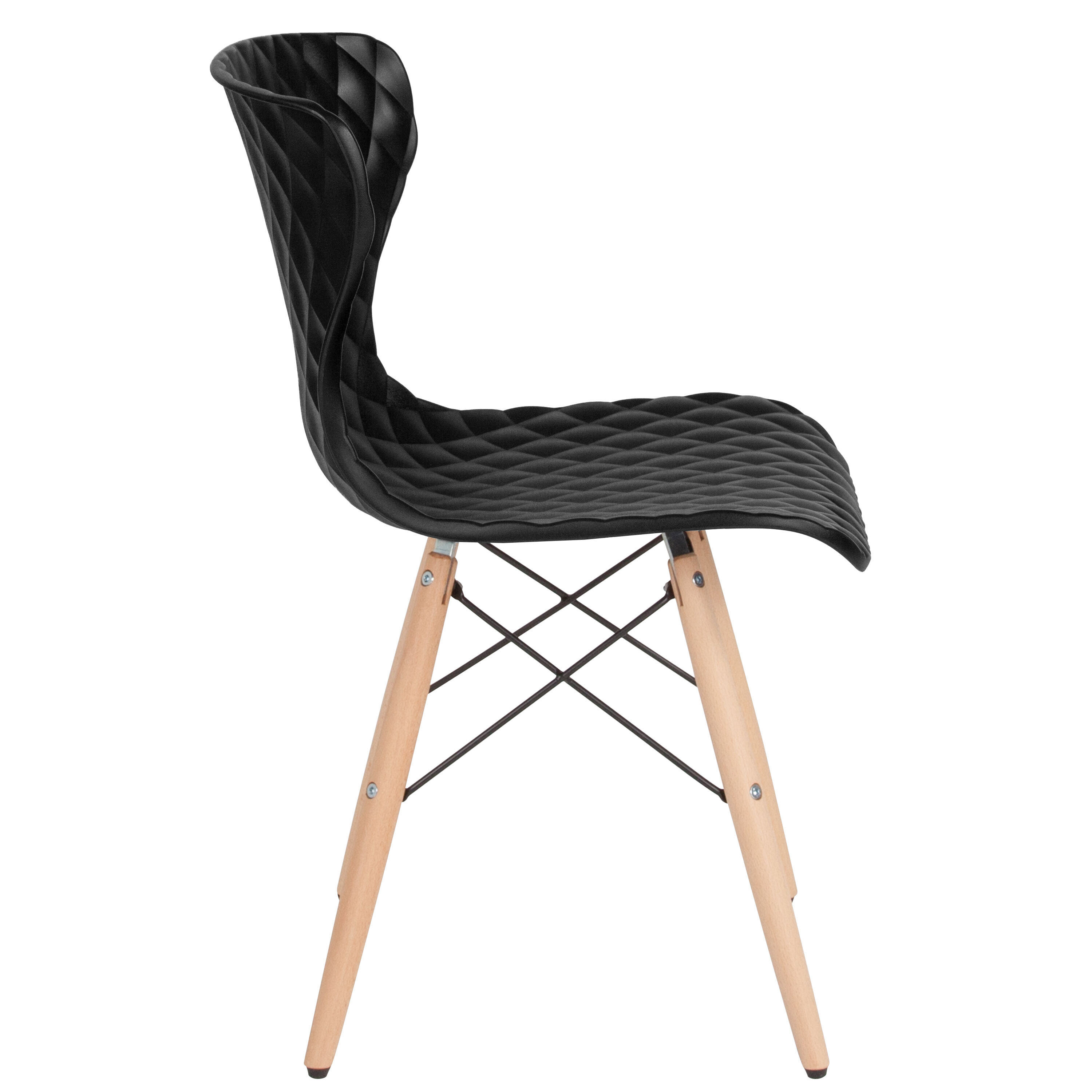 black plastic chair with wooden legs minnie mouse bouncer bedford contemporary design