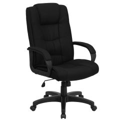 Chair With Arms High Back Modern Black Fabric Go 5301b Bk Gg Bizchair Com