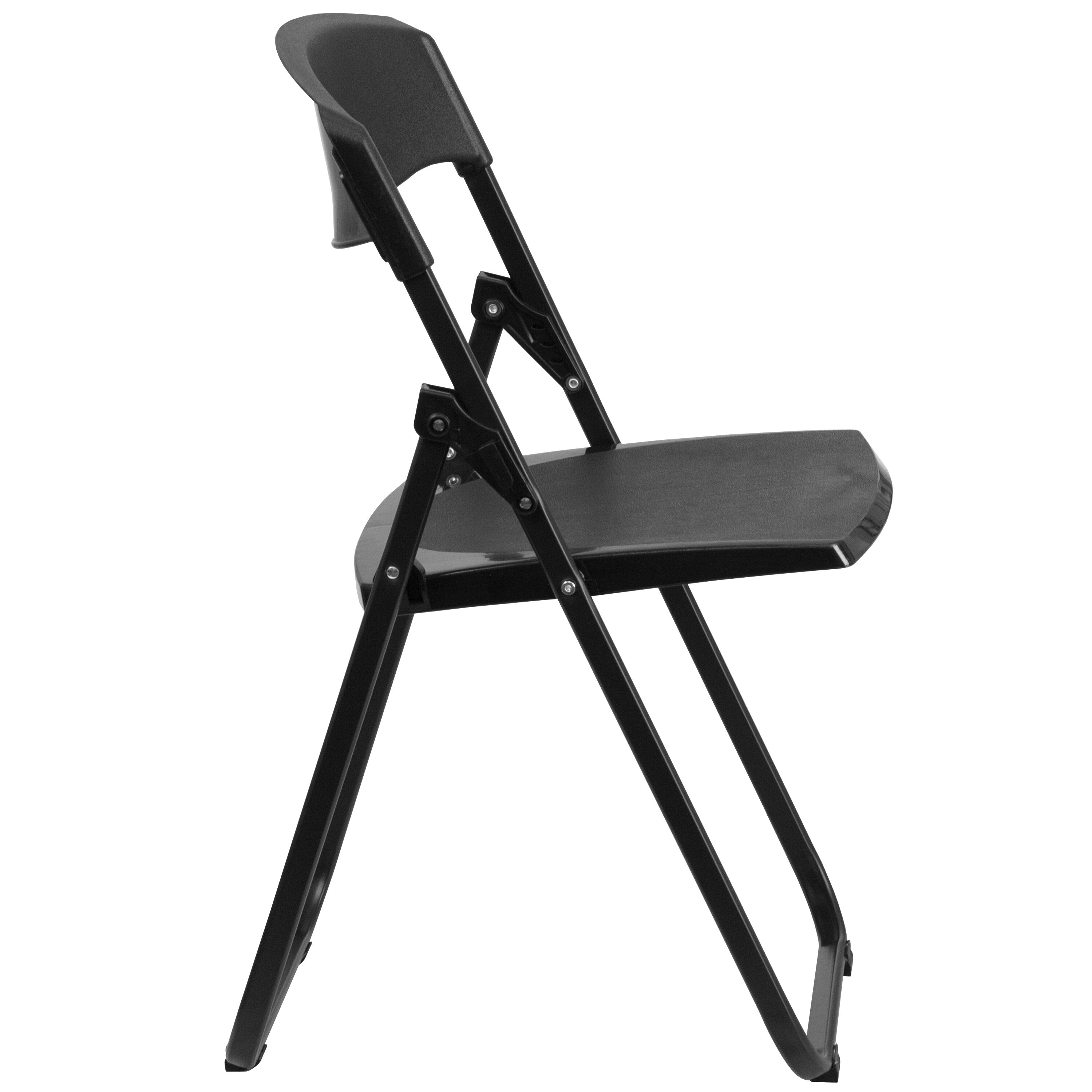 folding chair dolly 50 capacity pub table and chairs 3 piece set 2 black plastic rut i gg bizchair