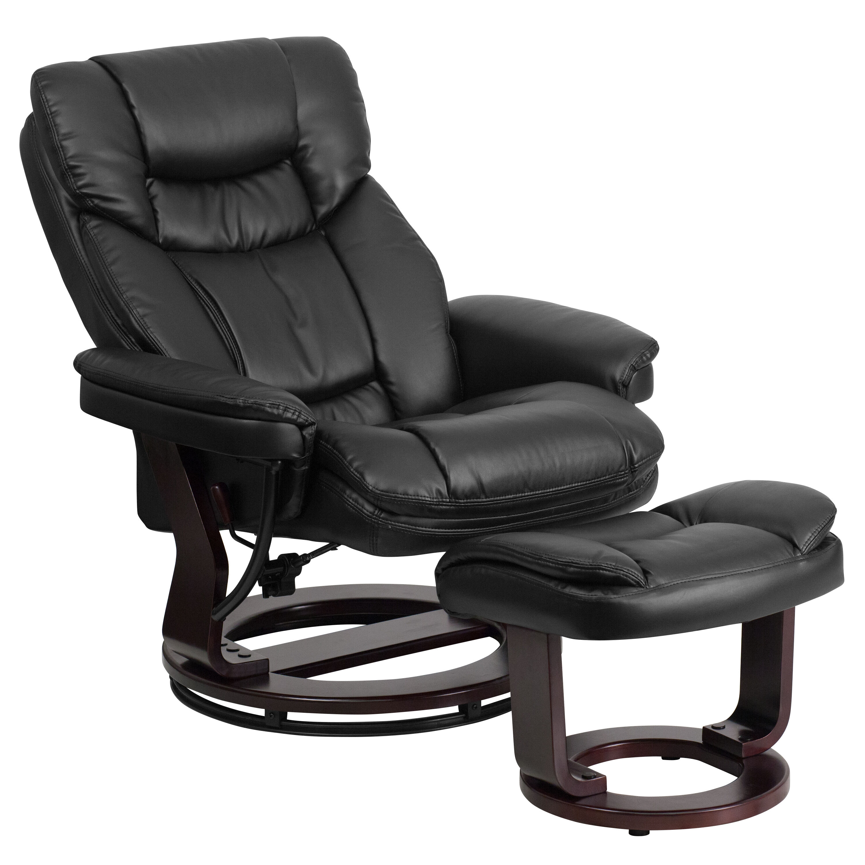 recliner vs chair with ottoman eames office chairs black leather bt 7821 bk gg bizchair com