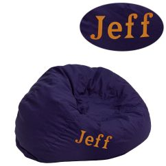 Child Bean Bag Chair Personalized Kid Chairs Flash Furniture Dg Small Solid Bl Emb Gg Bizchair