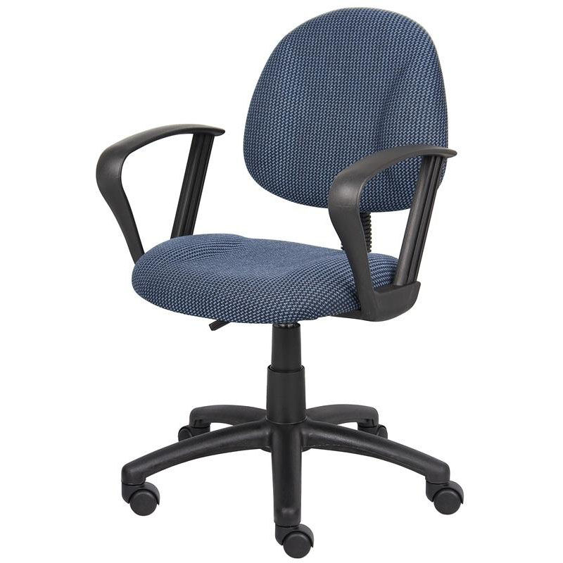 posture deluxe chair spring motion patio chairs padded lumbar support b317 be bizchair com our thick with and loop arms blue is on