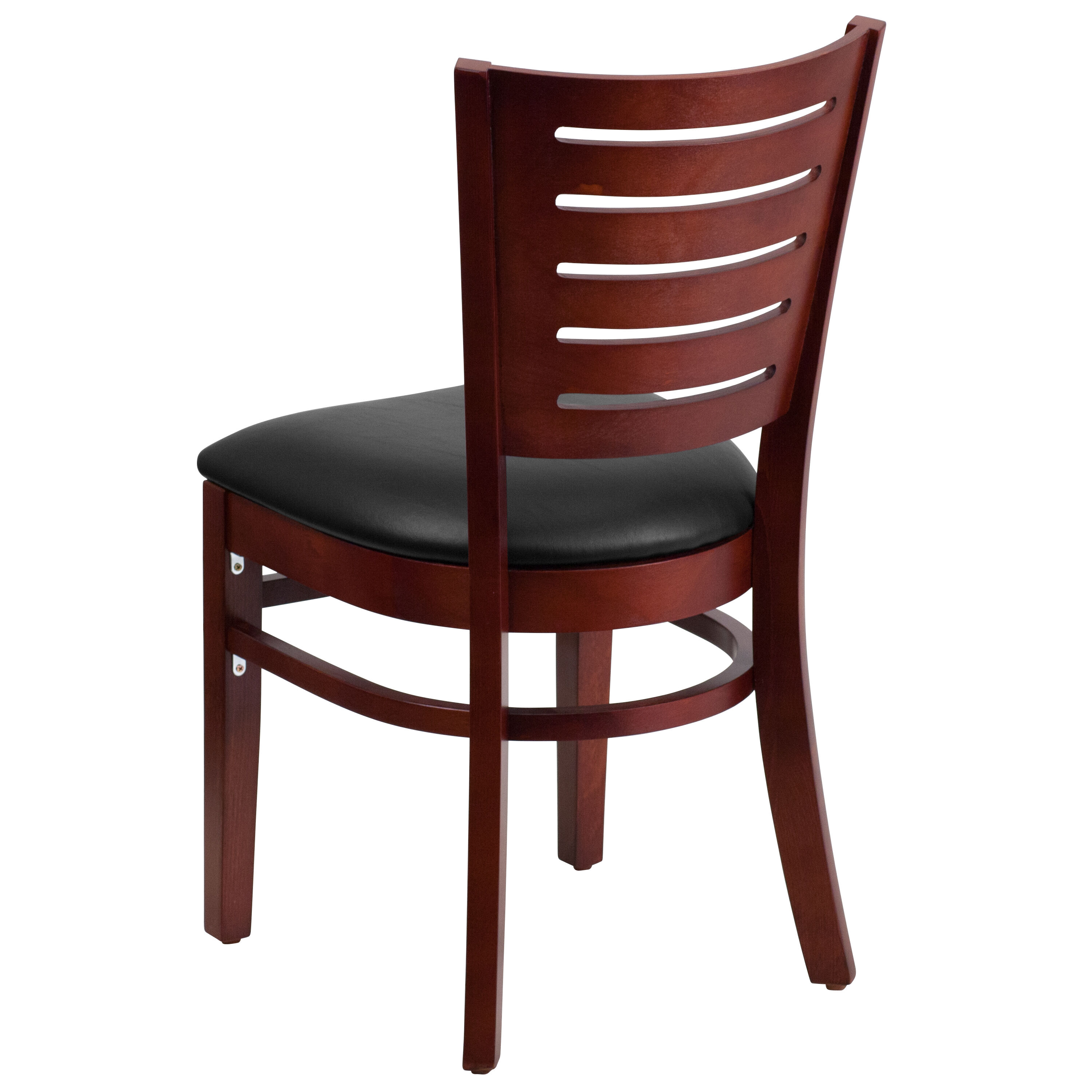 wooden slat chairs navy blue accent wood back chair bfdh dg w0108 bizchair