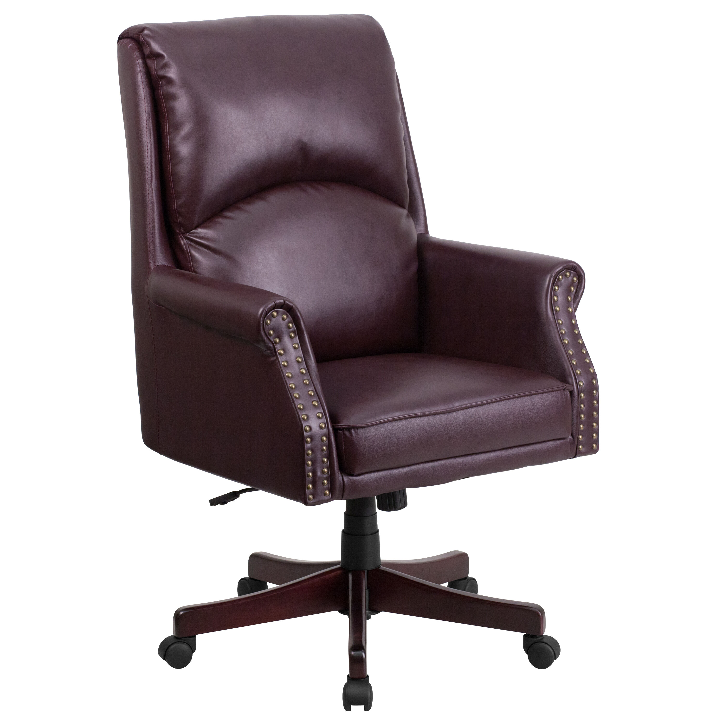 chair pillow for back swing from ceiling burgundy high bt 9025h 2 by gg bizchair com our leather executive swivel office with arms is on sale