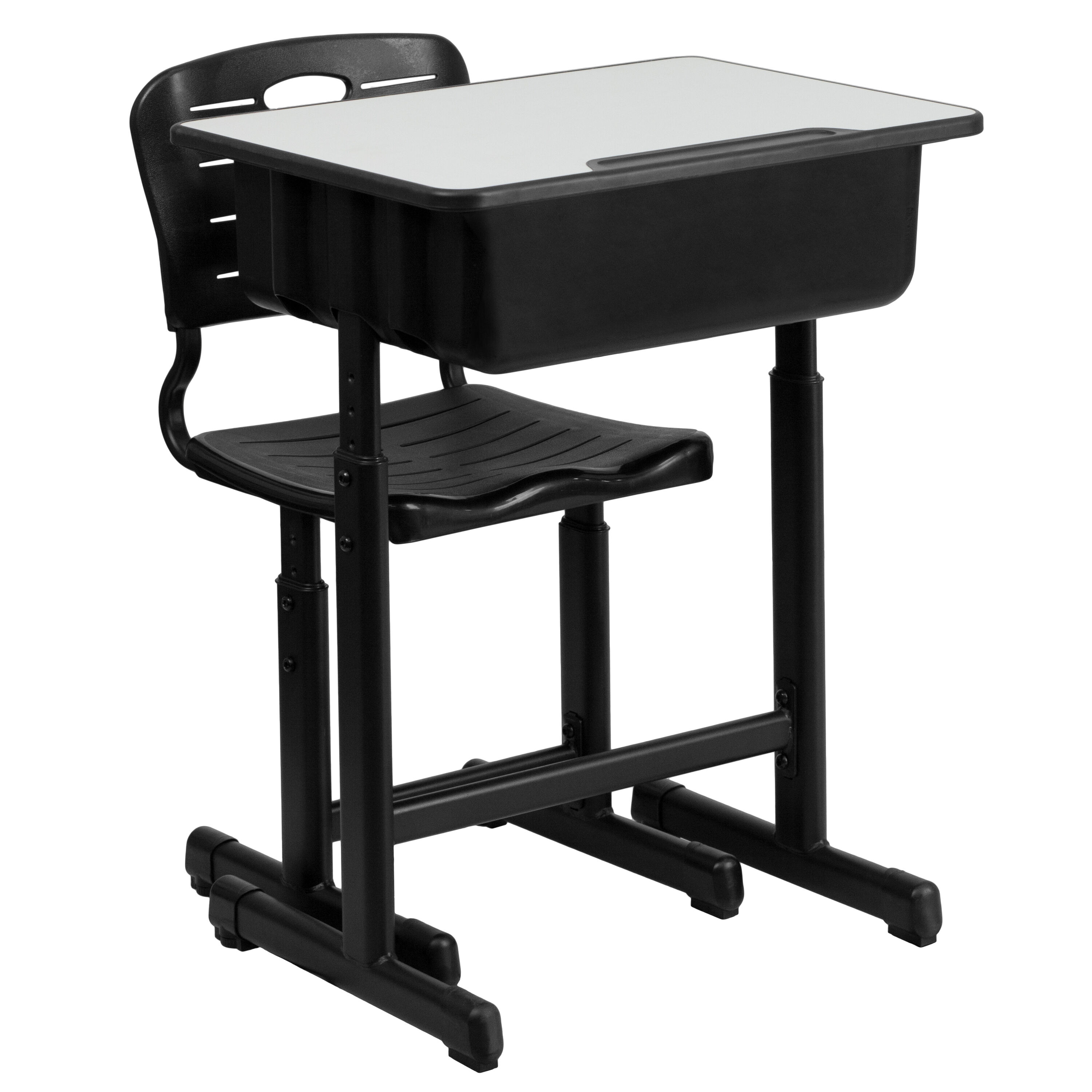 Our Adjustable Height Student Desk and Chair with Black