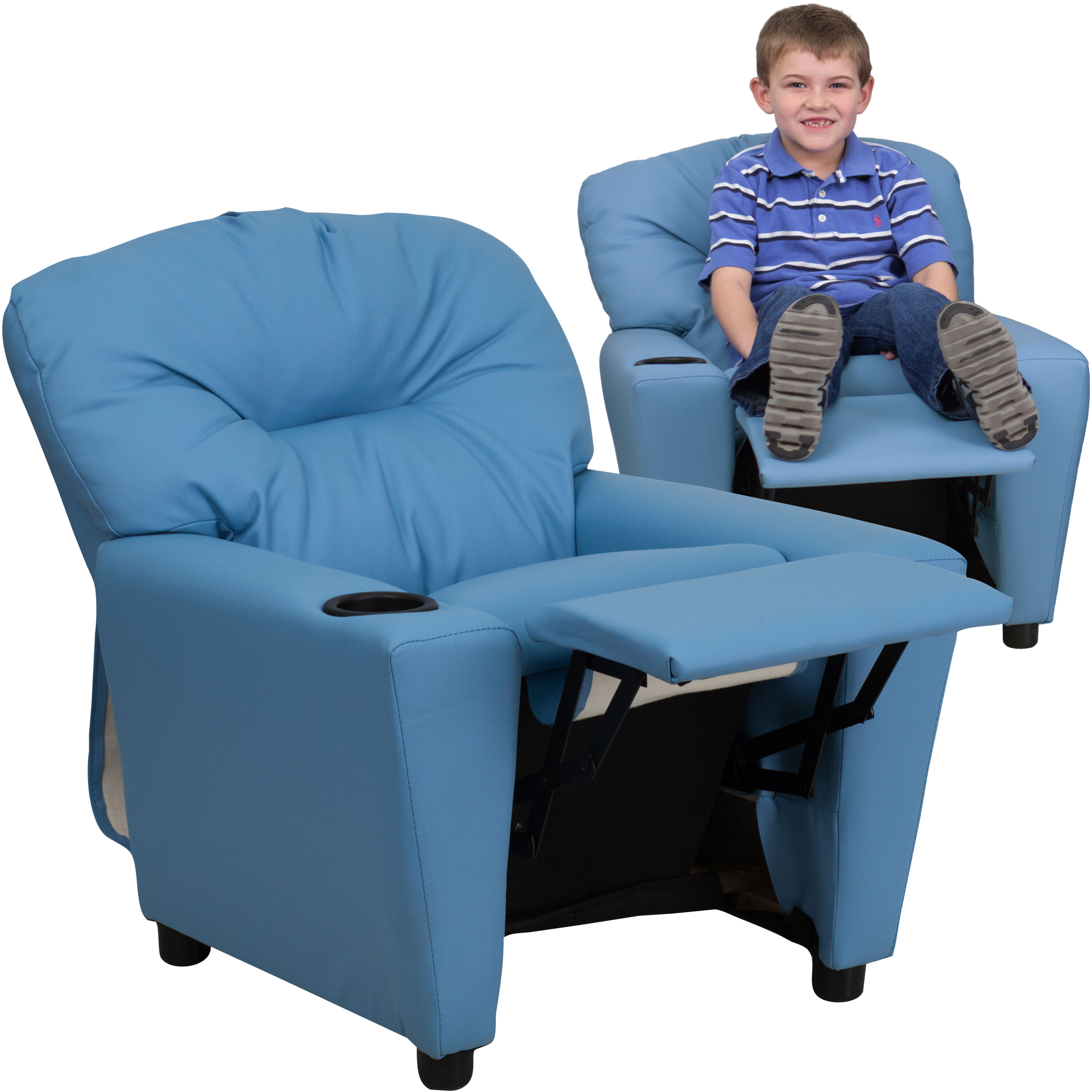 kid recliner chair revolving gem light blue kids bt 7950 ltblue gg bizchair