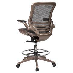 Drafting Chairs With Arms Revolving Chair Vadodara Black Mesh Bl Lb 8801x D Gg Bizchair