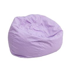 Child Bean Bag Chair Personalized Clearwater Beach Rentals Flash Furniture Small Lavender Dot Kids Dg