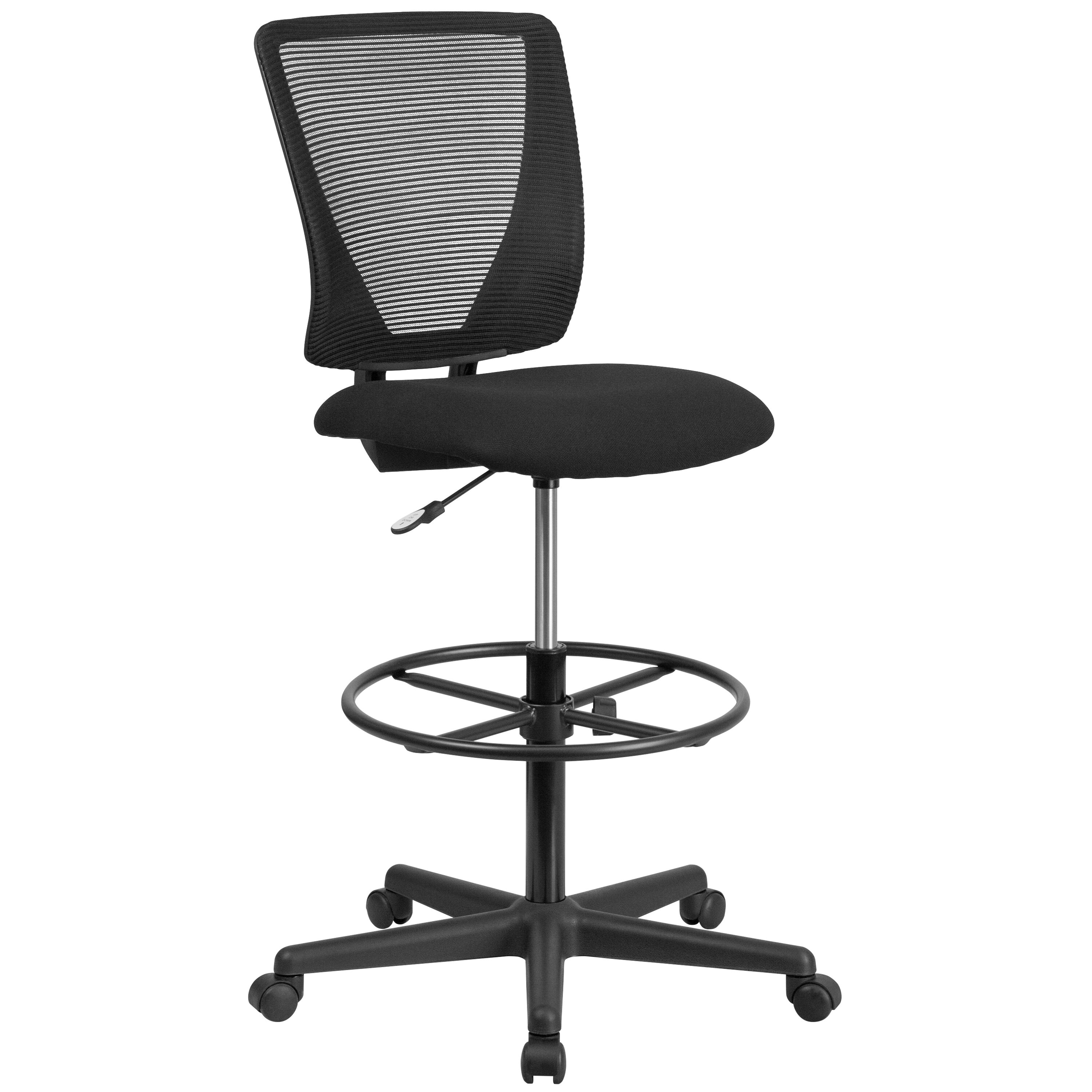 mesh drafting chair high top table chairs kitchen black draft go 2100 gg bizchair com our ergonomic mid back with fabric seat and adjustable foot ring