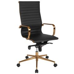 Office Chair Gold Colourful Chairs Uk Black High Back Bt 9826h Bk Gd Gg Bizchair Com Our Ribbed Leather Executive Swivel With Frame Knee