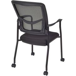 Side Chairs With Casters Folding Chair Storage Ideas Mesh Back Stackable Arm 5175cbk Bizchair
