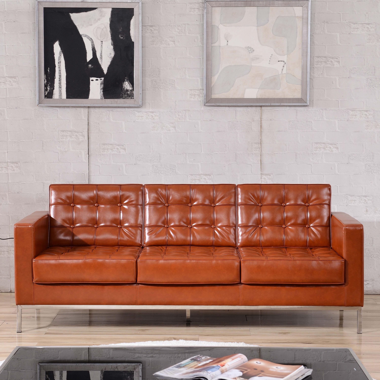 Cognac Leather Sofa ZBLACEY8312SOFACOGGG  Bizchaircom