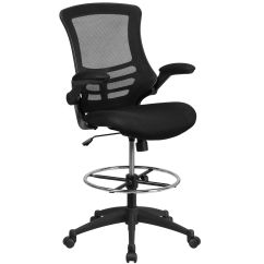 Ergonomic Drafting Chair With Arms Wooden Kitchen Chairs Argos Our Mid Back Black Mesh
