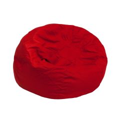 Pottery Barn Bean Bag Chair Iron Dining Chairs Red Dg Small Solid Gg Bizchair