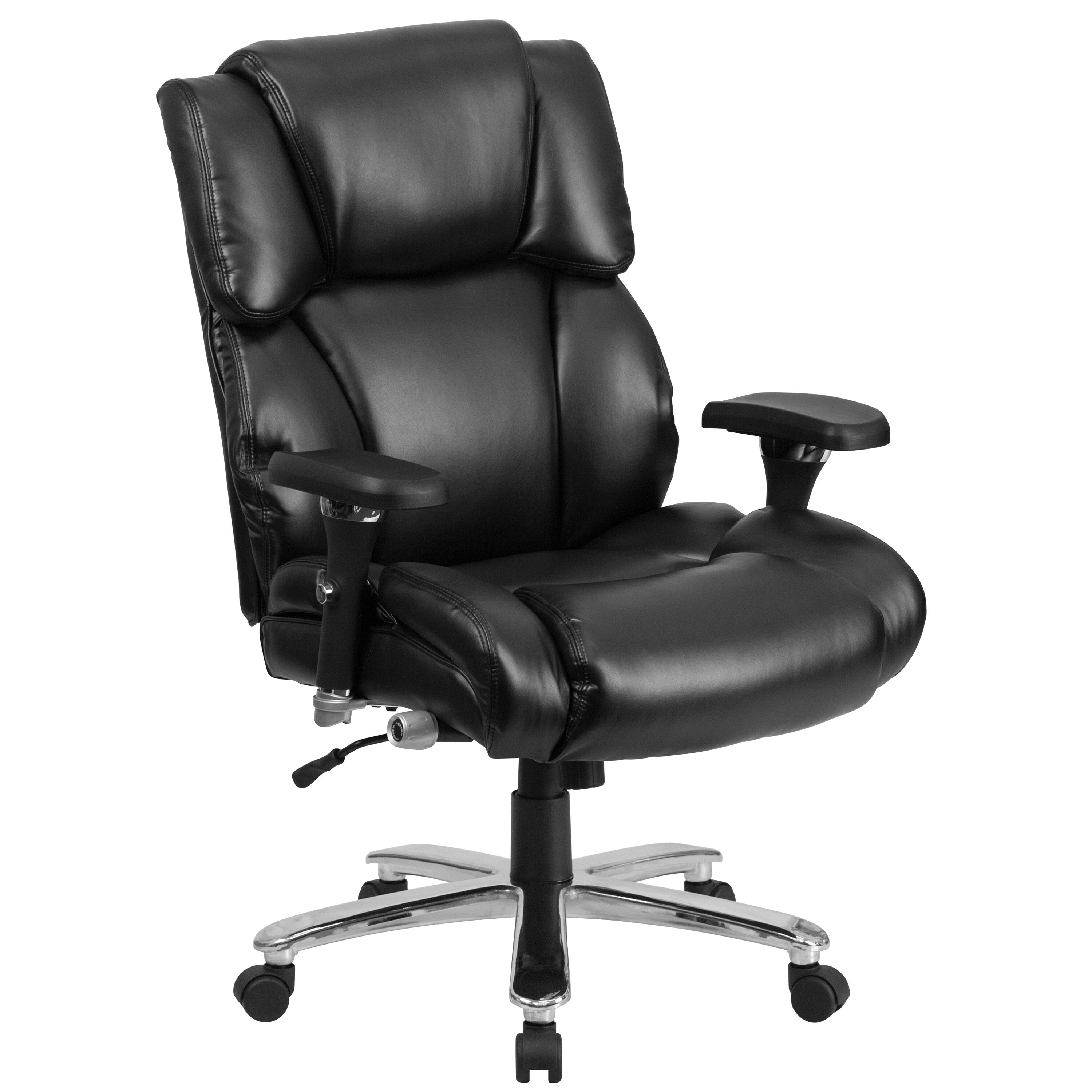 big and tall office chairs floral arm chair bizchair com hercules series 24 7 intensive use 400 lb rated black leather