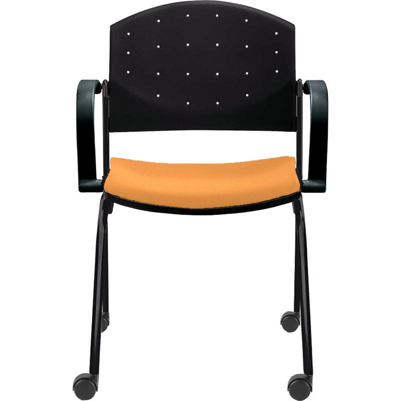 side chairs with casters high chair that attaches to eddy stack ed4082 bizchair