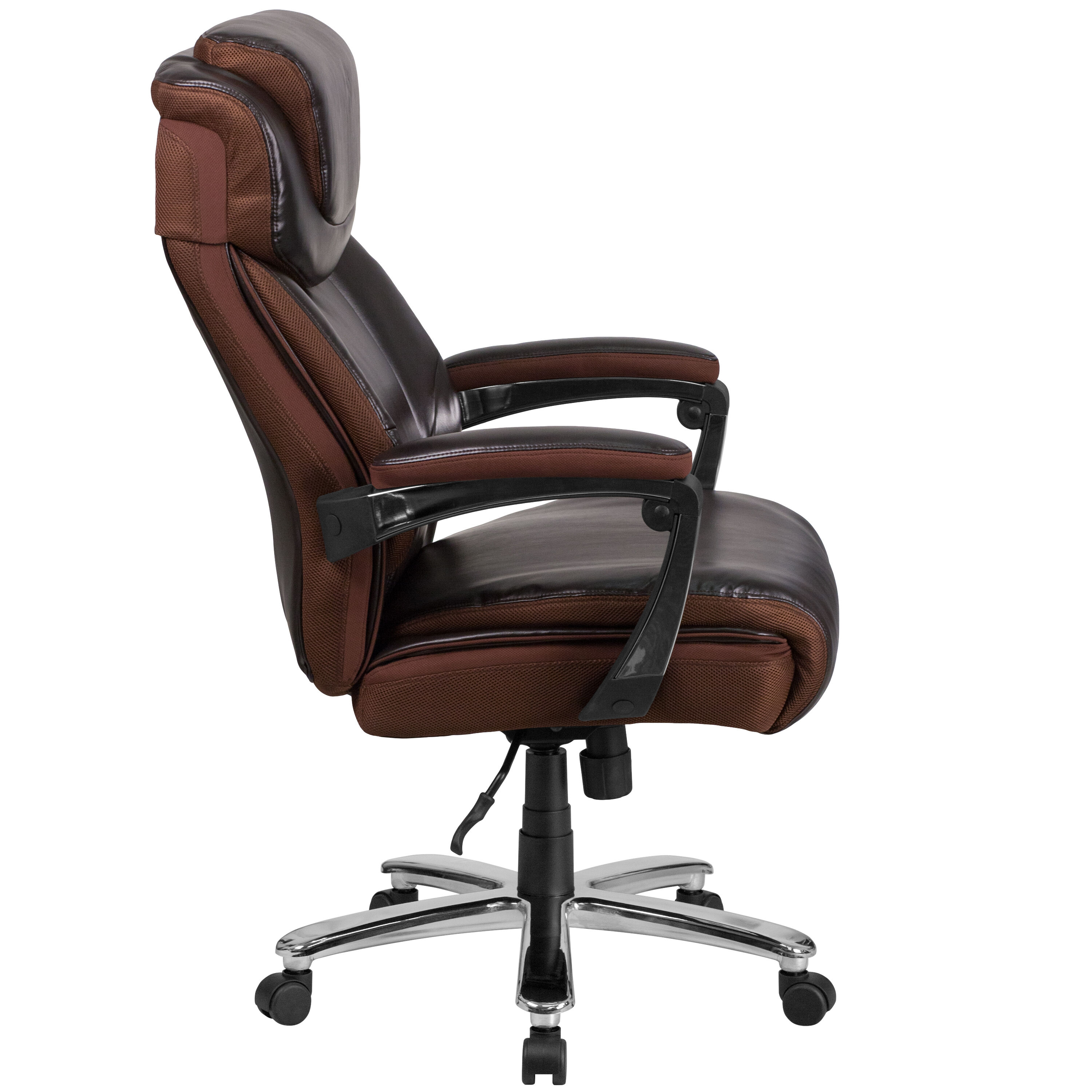 HERCULES Series Big  Tall 500 lb Rated Brown Leather