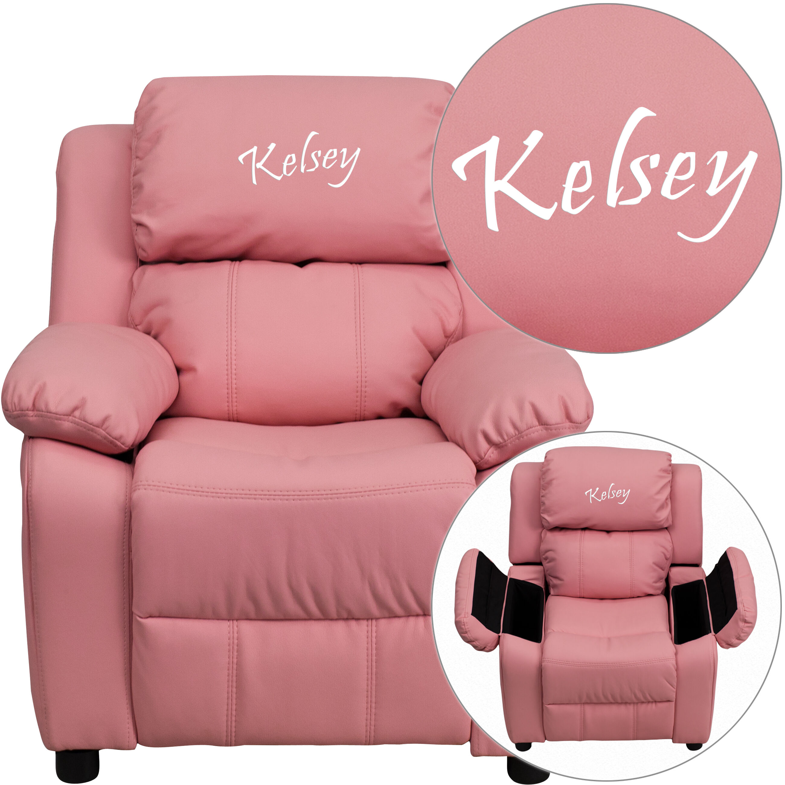 kids tv chair used pedicure chairs for sale emb pink vinyl recliner bt 7985 kid gg bizchair com