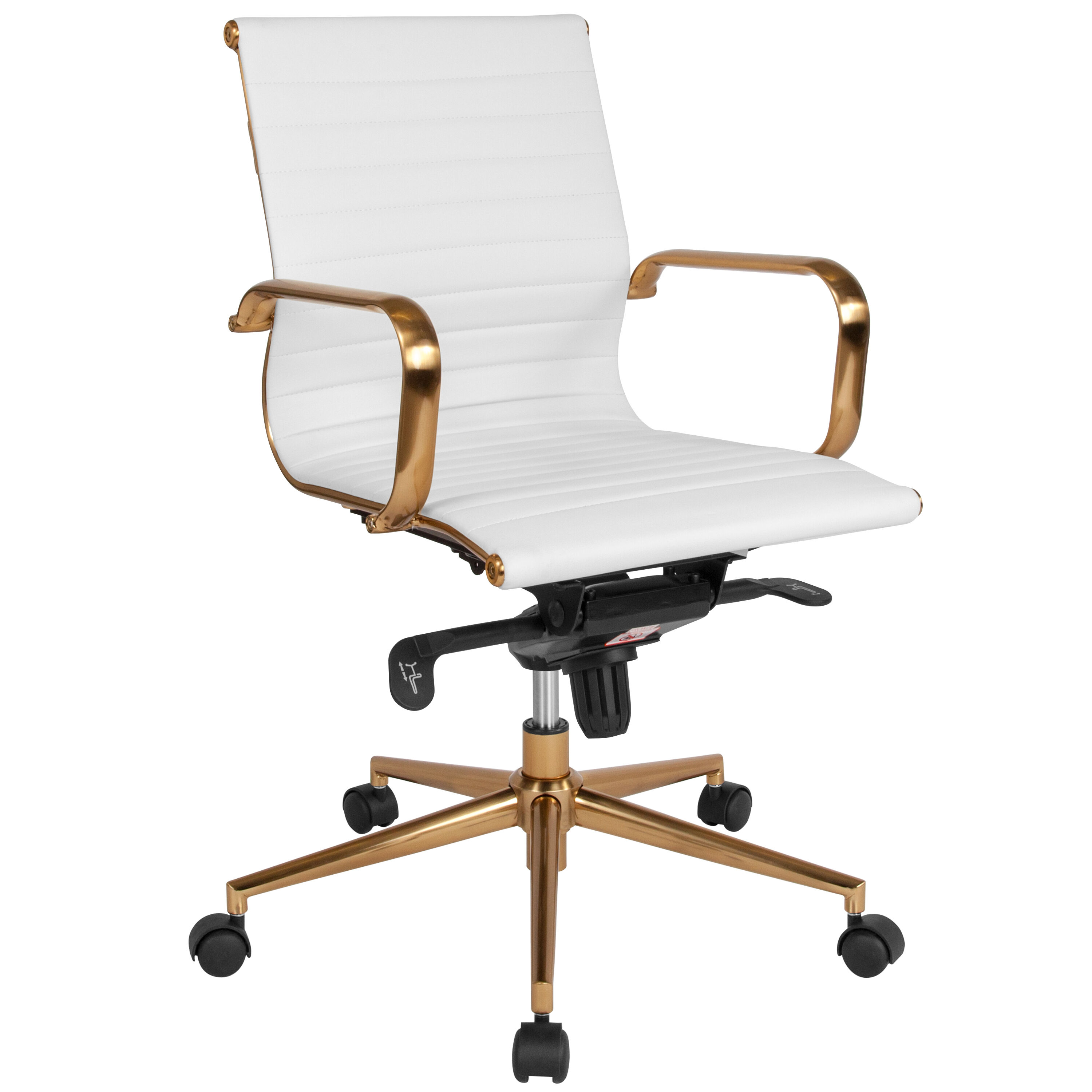 office chair gold set of two rocking chairs white mid back bt 9826m wh gd gg bizchair com our ribbed leather executive swivel with frame knee