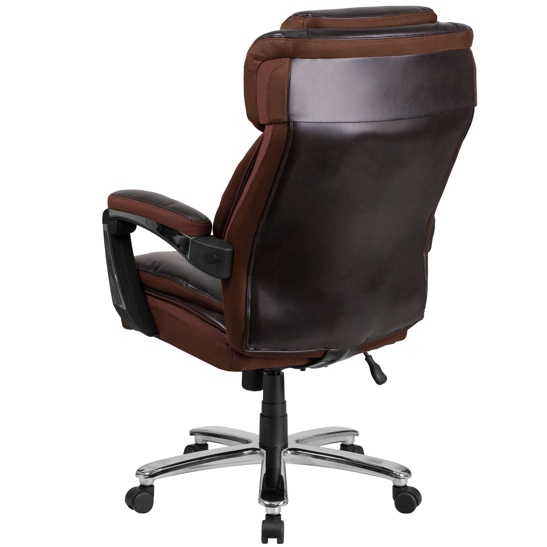 ergonomic chair under 500 sleeper folding foam bed full size brown 500lb high back go 2223 bn gg bizchair com