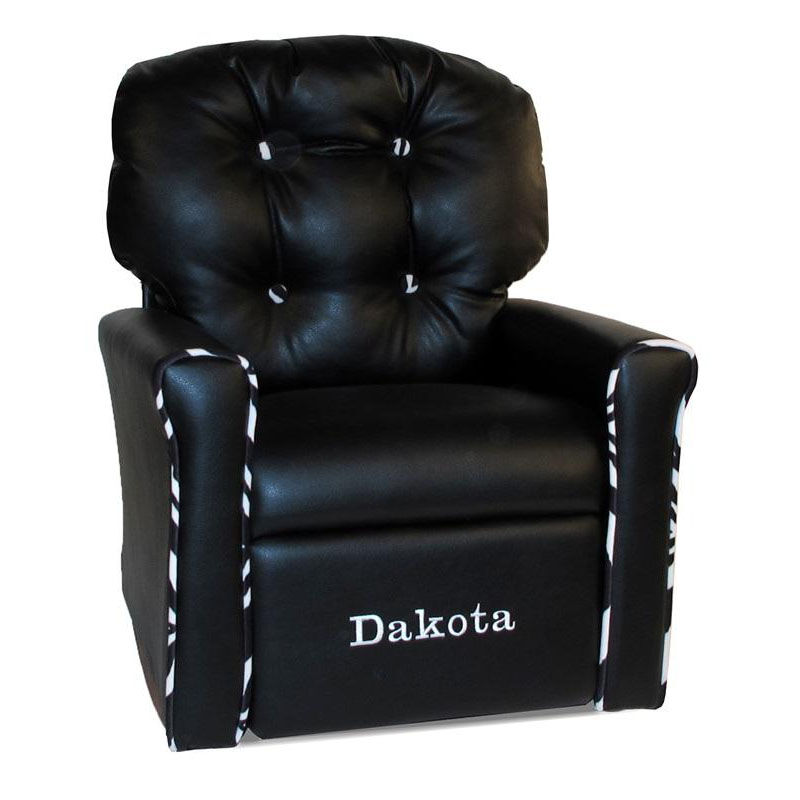 personalized kids chair 2 person folding black rocking recliner dzd17000 bizchair