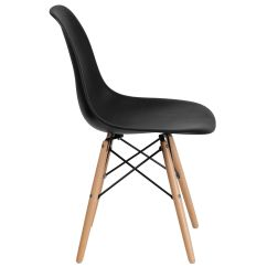 Black Plastic Chair With Wooden Legs Home Theater Bean Bag Chairs Wood Fh 130 Dpp Bk Gg Bizchair Com Our Elon Series Is On Sale Now
