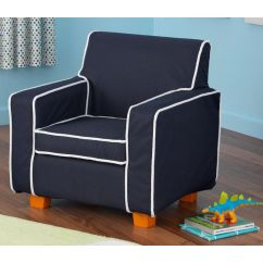 Kids Arm Chairs Harvard Chair For Sale Navy Laguna 18602 Bizchair Com Our Size With Contrast Piping And Slip Cover Is On