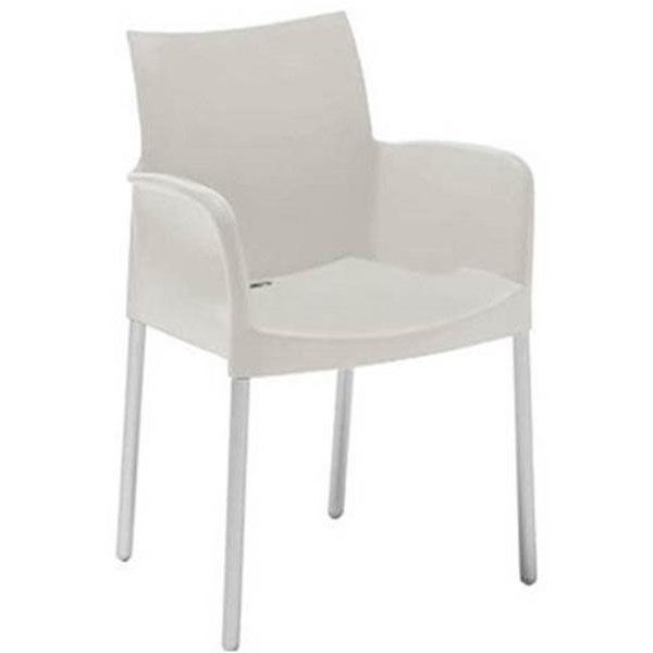 white shell chair black leather chaise lounge florida seating pedrali stackable poly outdoor arm