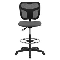 Mesh Drafting Chair Kids Comfy Chairs Gray Draft Wl A7671syg Gy D Gg Bizchair Com Our Mid Back With Height Adjustment Is On Sale Now