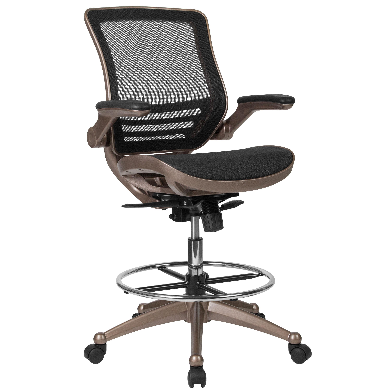 Black Mesh Drafting Chair BLLB8801XDGG  Bizchaircom
