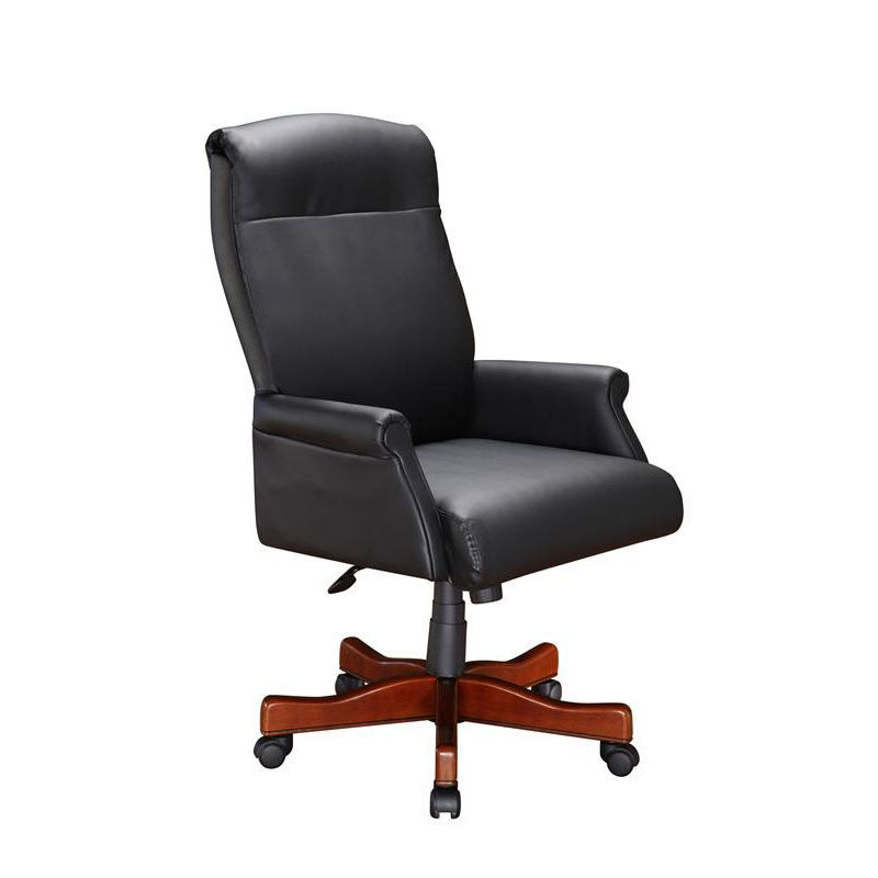 black leather desk chairs haworth office manual exec roll arm chair 6940 1105 bizchair com our keswick executive in english cherry is on sale